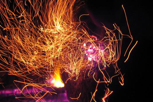 Beach Fire Sparks